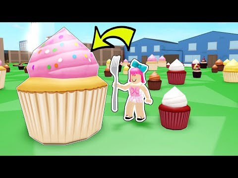 Roblox: EATING THE *BIGGEST* CUPCAKE IN ROBLOX!!!