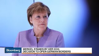 Merkel Stands by Her Decision to Open German Borders