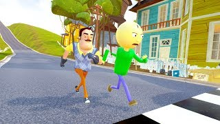 NEIGHBOR VS BALDI RACES - Hello Neighbor