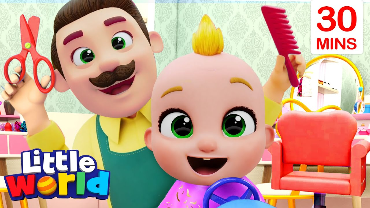 Haircut Song   Learning With Nina And Nico + More Little World Nursery Rhymes