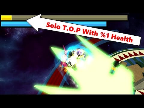 Solo T.O.P With %1 Health | DBZ Final Stand