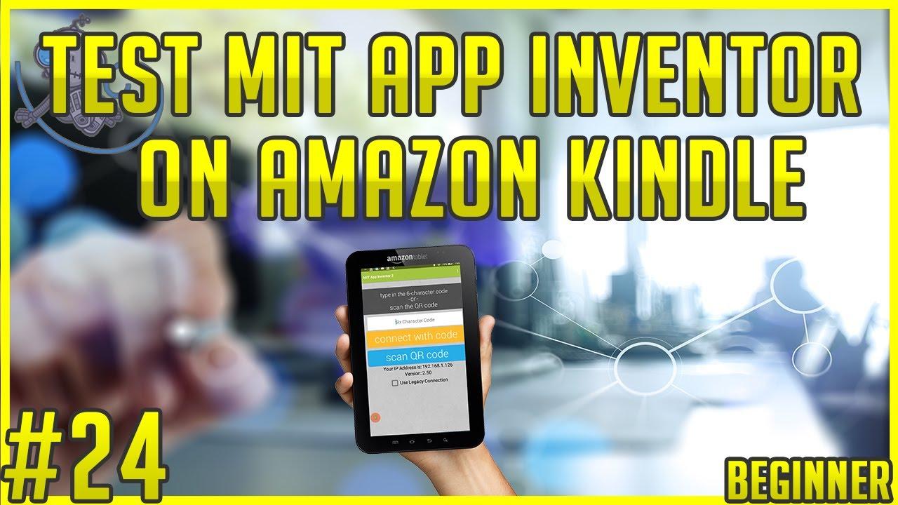 Test MIT App Inventor on the Amazon Kindle #tt24