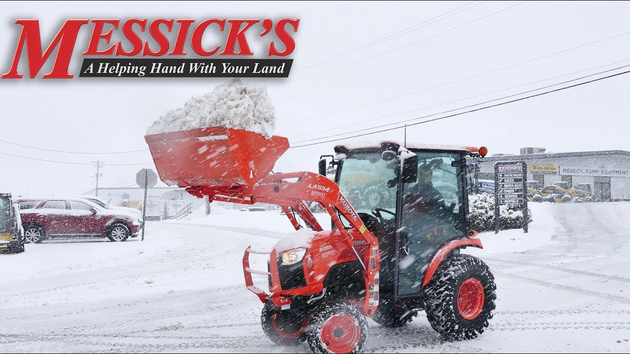How to clear snow using your loader - Kubota B2650 Cab