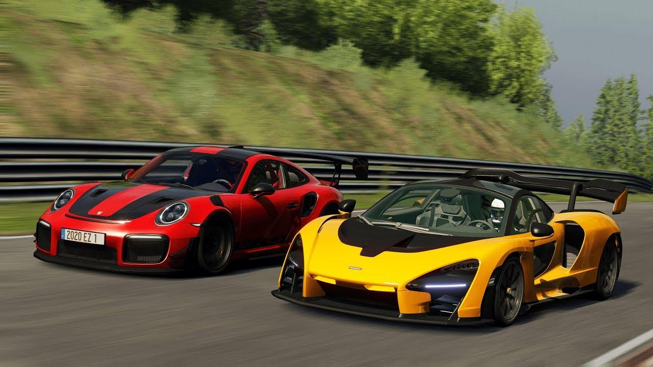 Porsche 911 Gt2 Rs Mr Vs Mclaren Senna At Nurburgring Assetto Corsa Ac Youtube
