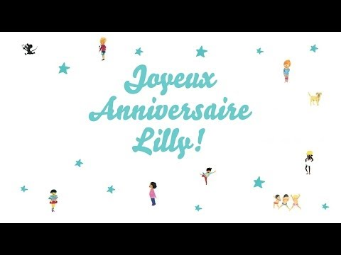 bebe lilly anniversaire