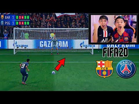 Reto ÉPICO!!! Penaltis En FIFA20 Con CASTIGO! (BARÇA Vs PSG)