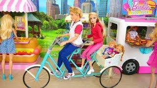 Happy Family Doll Bicycle For 4 sepeda boneka Vélo poupée Bicicleta boneca دراجة باربي Puppenfahrrad