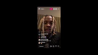 Lil Durk EMOTIONAL on his brotha OTFDthang gettin shot by fbg duck homies,GOES CRAZY!MUST WACTH