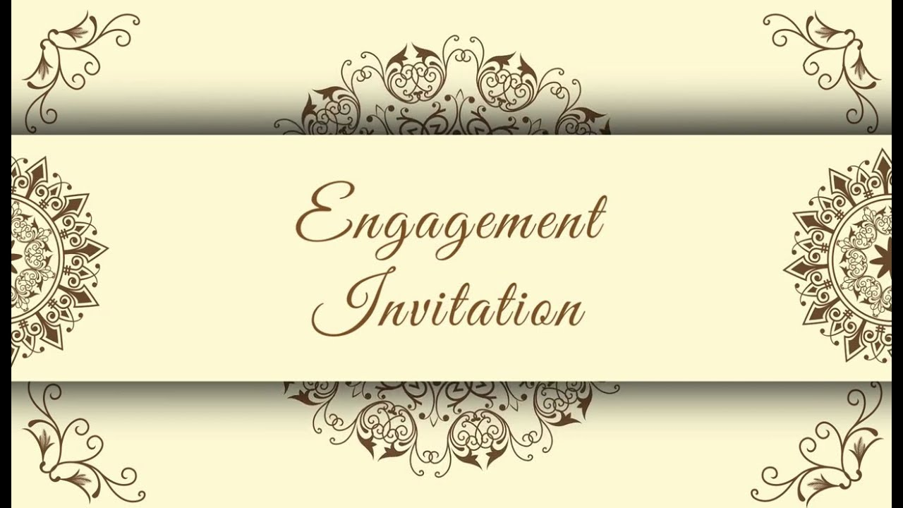 Best Engagement Invitation Video  Free Engagement Invitation video 5   Free & Blank