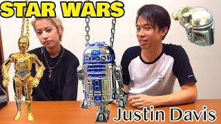 自慢しにshimabeeがやってきたw【スターウォーズ】STAR WARS × Justin Davis シルバアクセサリー R2-D2 C-3PO ネックレス ピアス コラボレーション