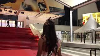 Miss Pakistan World Anzhelika Tahir on the red carpet in Cannes Film Festival