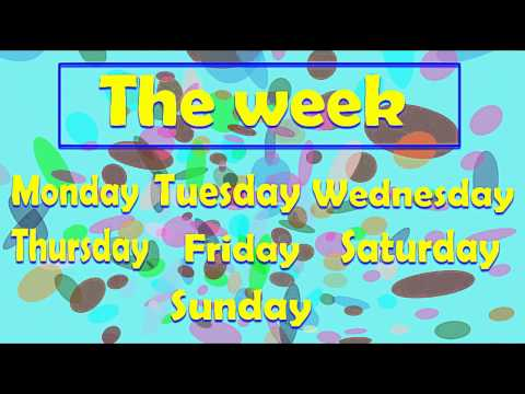 The days of the week - alain le lait