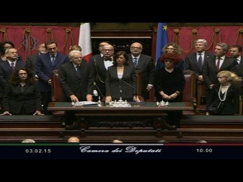 New Italian president Sergio Mattarella sworn in