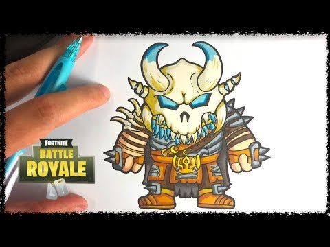 How to draw RAGNAROCK UPGRADED - FORTNITE