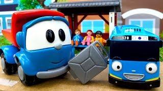 Відео про іграшки Вантажівка Лева: Автобус Тайо без бензину!