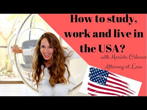How to study, work and live in the USA🇺🇸✅