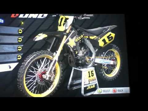Sponsored Rockstar bike and gear Mx vs Atv Alive