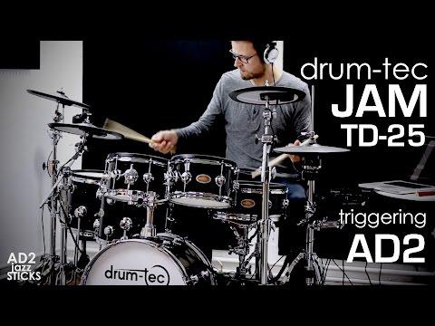 drum-tec Jam series & Roland TD-25 module triggering XLN Audio Addictive  Drums 2