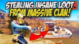 TAKING EVERYTHING from the BIGGEST CLAN! - Rust Solo Survival Gameplay