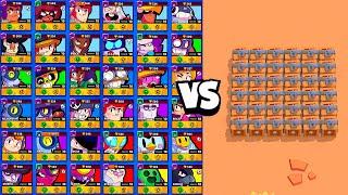 TOUS LES BRAWLERS vs 20 BOITES ! QUI est le PLUS RAPIDE ? sur Brawl Stars Olympics