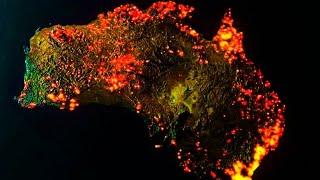 Avustralya kıtası kül oluyor,Yangınların Uydu Görüntüleri