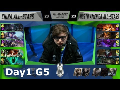 China vs NA LCS | Day 1 of LoL 2017 All Star Group Stage | China All-Stars vs NA All-Stars