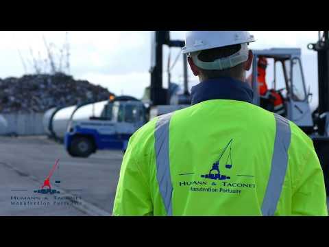 Handling  of wind turbine parts - Port of Dieppe - FRANCE