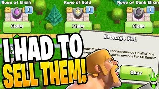 I GOT RIPPED OFF SELLING THESE RUNES! - Clash of Clans
