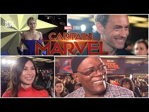 Captain Marvel Premiere  - Samuel L Jackson, Jude Law, Gemma Chan & more on Marvel's Bold New Movie