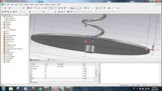Antena Helice en CST Studio