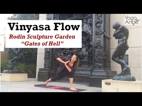 """Vinyasa Flow • Rodin Garden """"Gates of Hell"""" at Stanford • Yoga with Angie"""