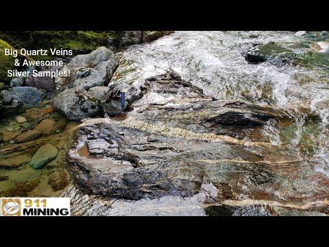 Quartz Stringer Veins & Silver Running Through A Bedrock Creek!