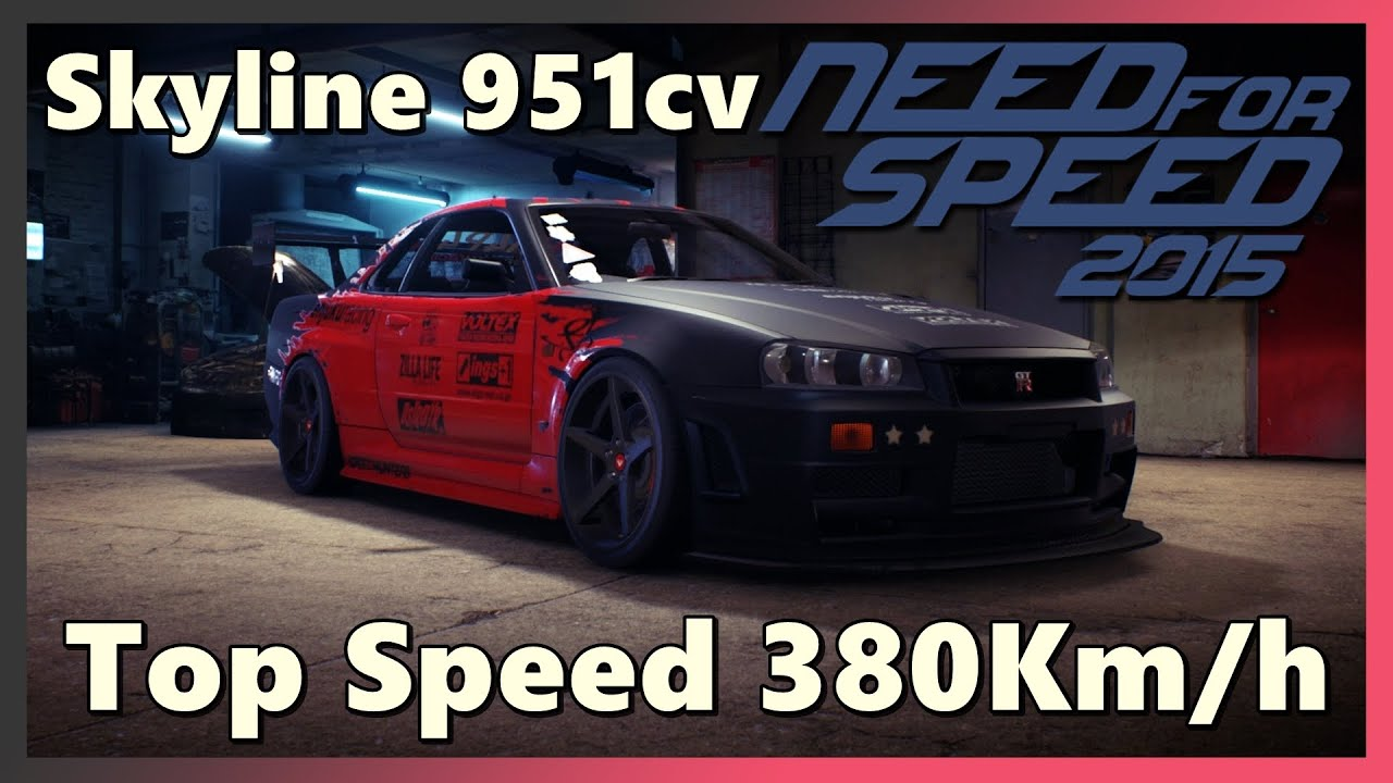 Need For Speed 2015 Pc Nissan Skyline Gtr R34 Topspeed 380km H