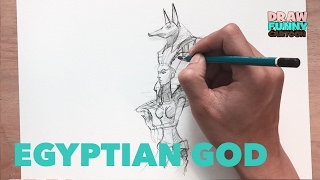 HOW TO DRAW EGYPTIAN GOD