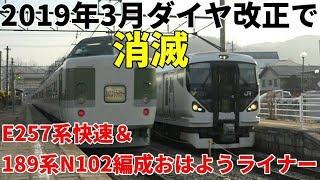 【2019年ダイヤ改正で消滅】~E257系快速&189系おはようライナー
