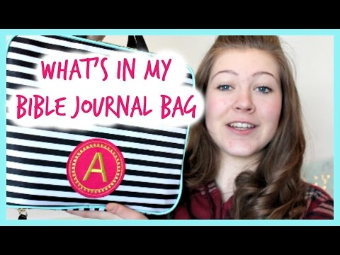 What's in my Bible Journal Bag | Abby Elizabeth