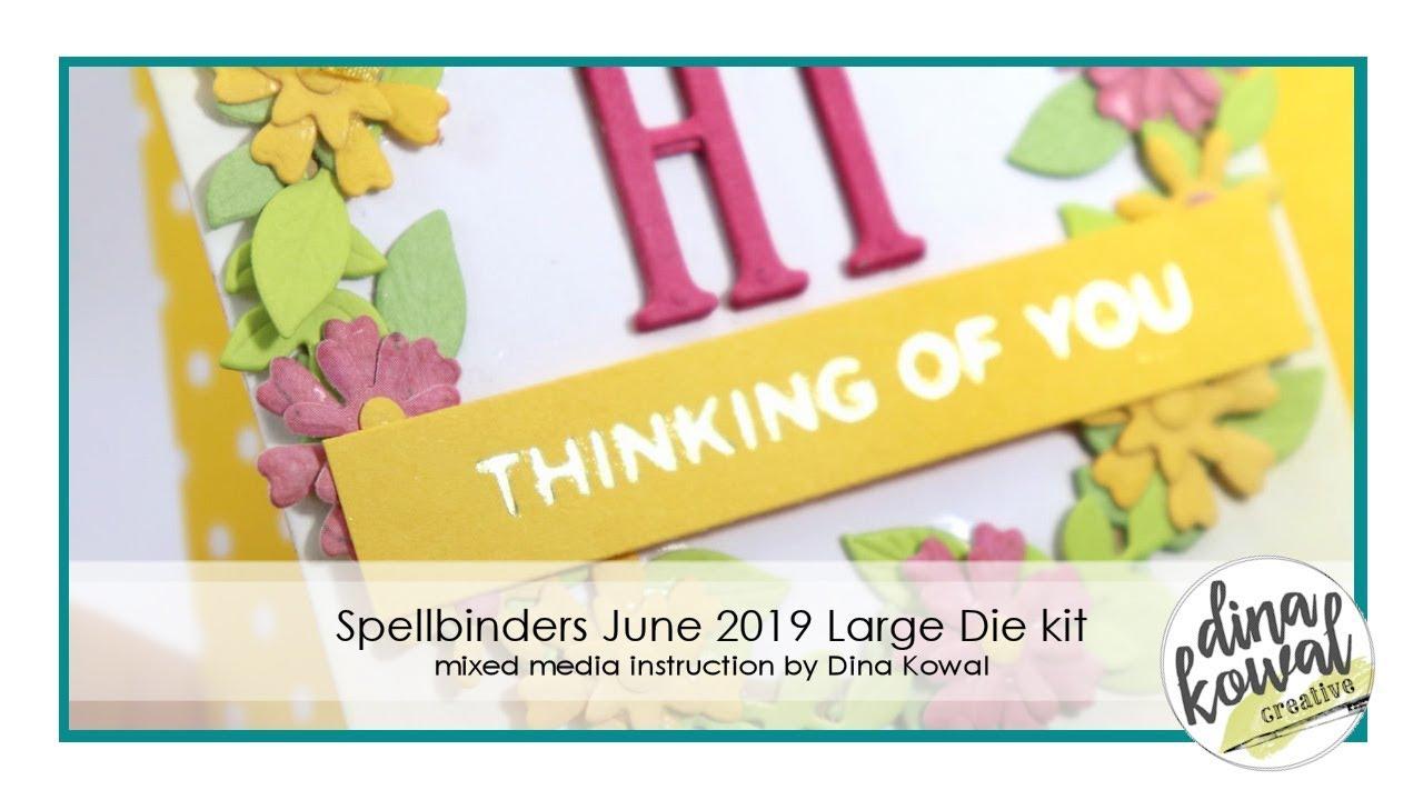 Spellbinders June 2019 Die of the Month - Large