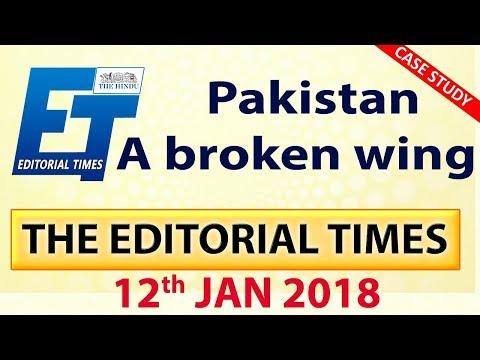 पाकिस्तान के उड़े परखच्चे   The Hindu   The Editorial Times 12th Jan 2018 Newspaper UPSC   SSC   Bank