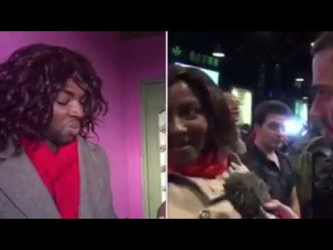 Une femme noire au meeting de marine la pen (Sacko comédien)