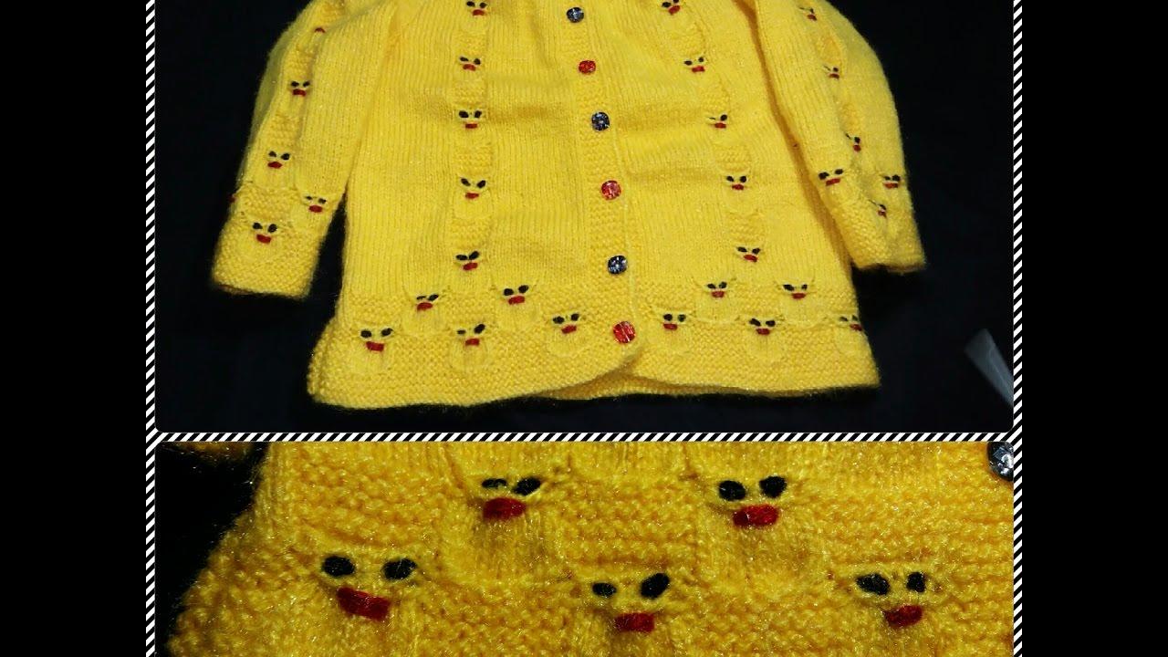 5fa55ddfe8346b Easy rabbit design on baby sweater(खरगोश का प्यारा सा डिजाईन हिंदी में)