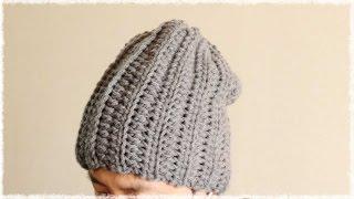 かぎ編み 簡単帽子の編み方 作り方 diy easy crochet beanie hat like ribbed knit