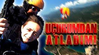 Paraşüt ile Uçurumdan ATLADIM ! (Korkudan Bayıldım)