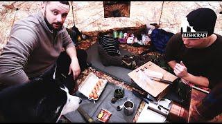 Похід в ліс взимку на 3 дні (базовий табір) / Winter camping hot tent Bushcraft basecamp