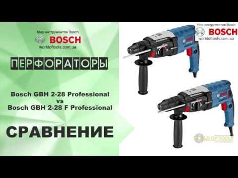 Сравнение перфораторов Bosch GBH 2-28 Professional и GBH 2-28 F Professional
