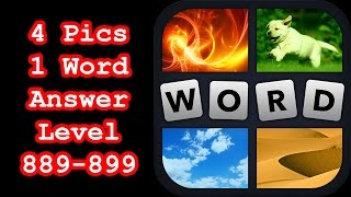 4 Pics 1 Word - Level 889-899 - Hit level 900! - Answers Walkt…