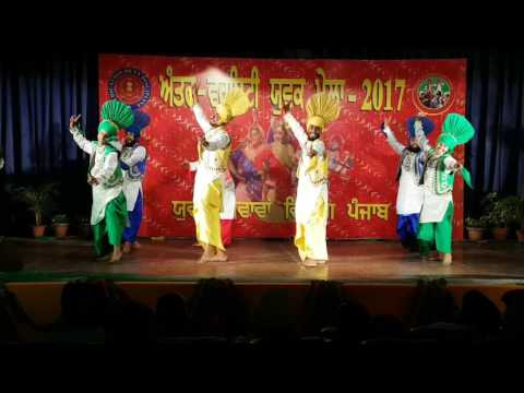 Chandigarh University Gharuan Best Bhangra at State Level Competition 2017 Organized by punjab Unive