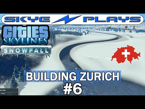 Cities Skylines Snowfall Zurich #6 ►Why I Don't Like the Landscaping and Canals Update◀