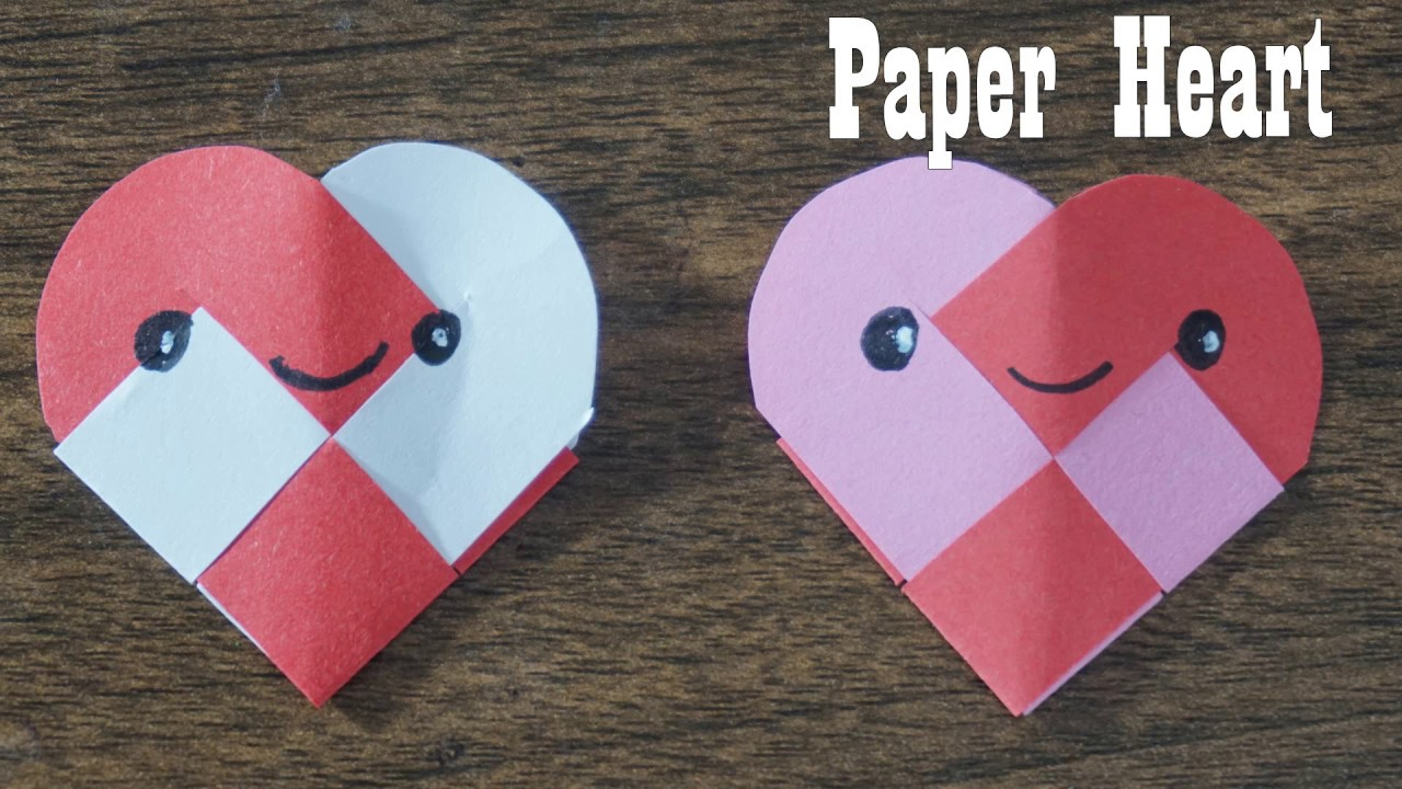 How To Make Paper Heart Paper Crafts Easy To Make Ideas Youtube