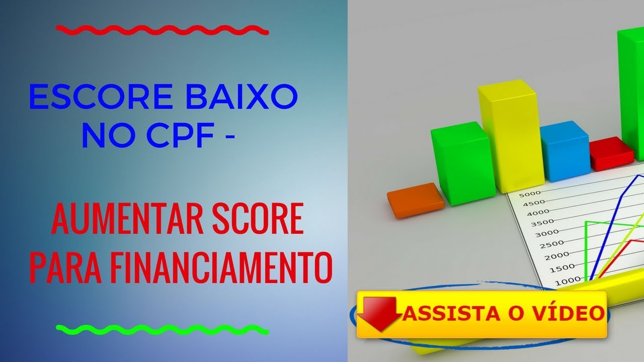 ESCORE BAIXO NO CPF AUMENTAR SCORE PARA FINANCIAMENTO