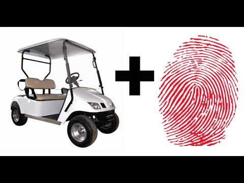 Fingerprint Secured Golf Cart